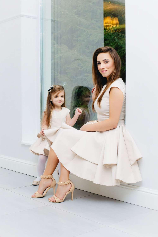 Mutter Tochter Brautkleid Blumenmädchenkleid Ivory | Mutter