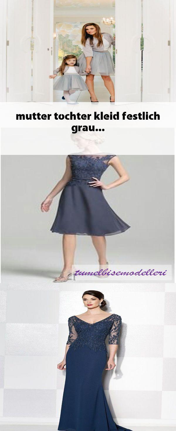 Mutter Tochter Kleid Festlich Grau - #festlich #grau #kleid