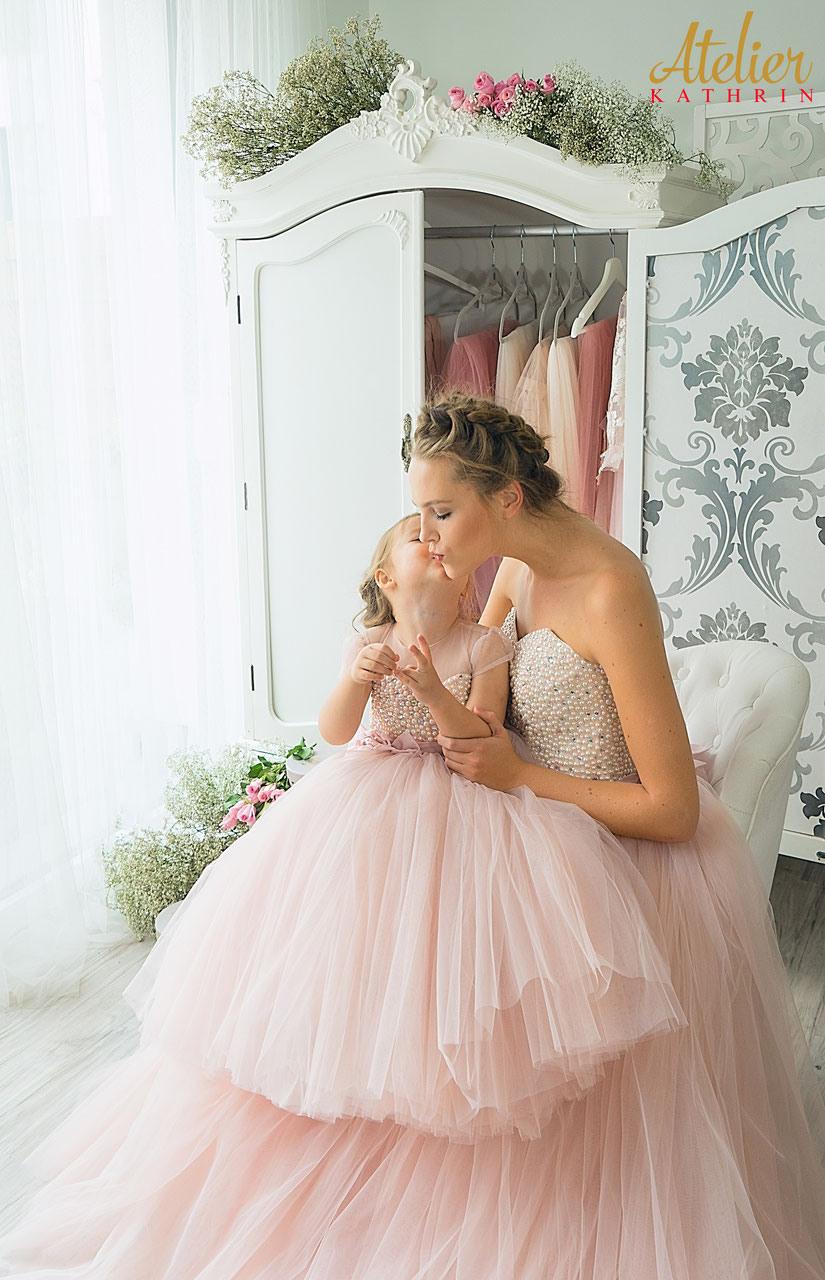 Mutter Tochter Kleid Pearl