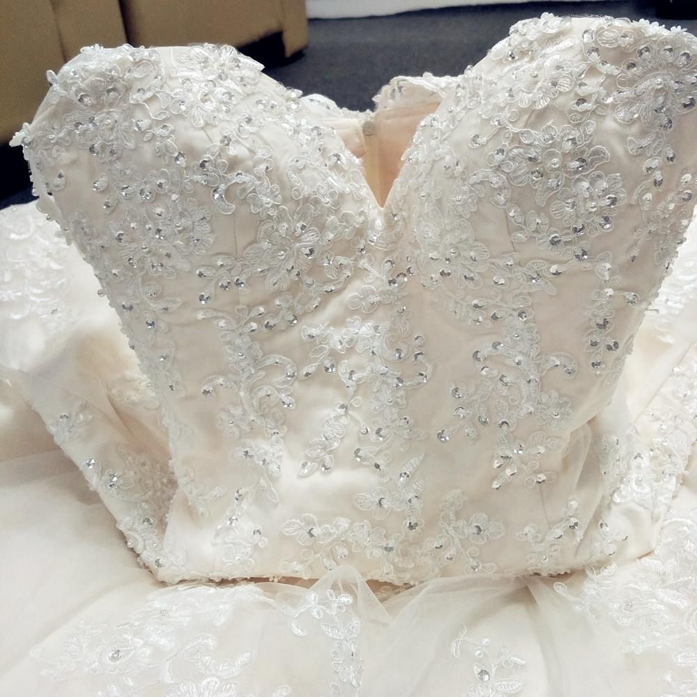 Ne158 Vestidos De Noiva 2017 China Brautkleider Sexy Weinlese Günstige  Hochzeitskleid Türkei Champagner Spitze Neueste Brautkleider - Buy Spitze
