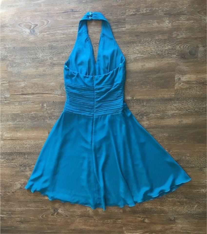 Neckholder-Kleid 36 In Petrol Für Ball/ Hochzeit
