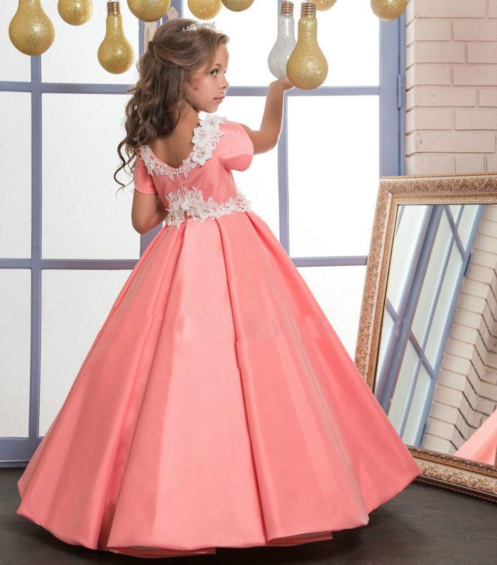 Neu Blumenmädchen Kleid Mädchen Kinder Prinzessin Fest Kleid