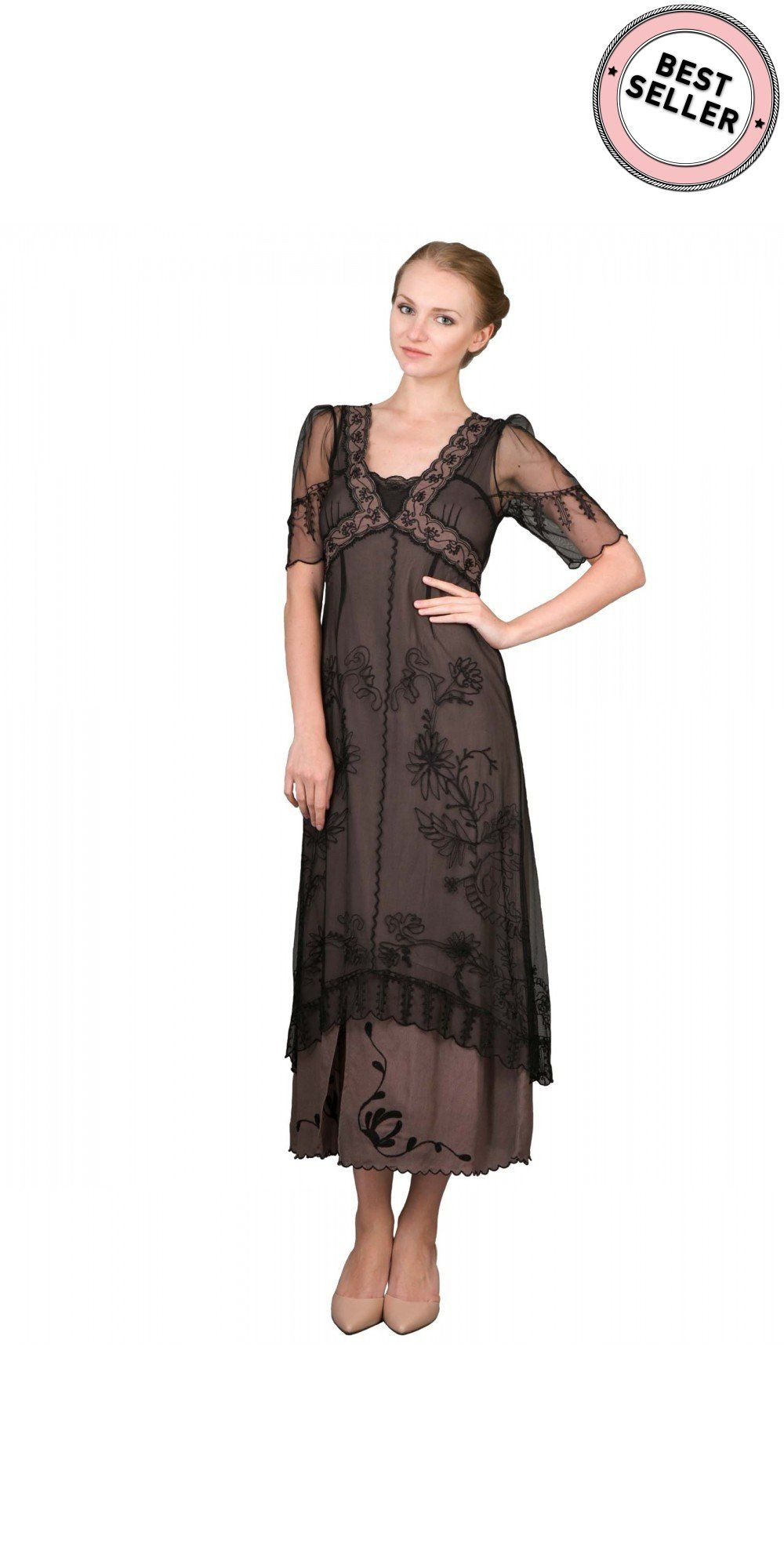 New Vintage Titanic Tea Party Dress In Black/coconataya