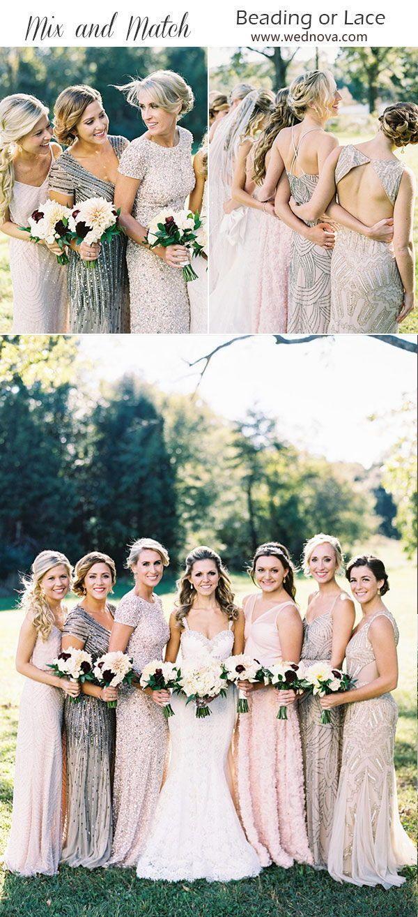 Nicht Übereinstimmende Brautjungfern Brautjungfer Kleider