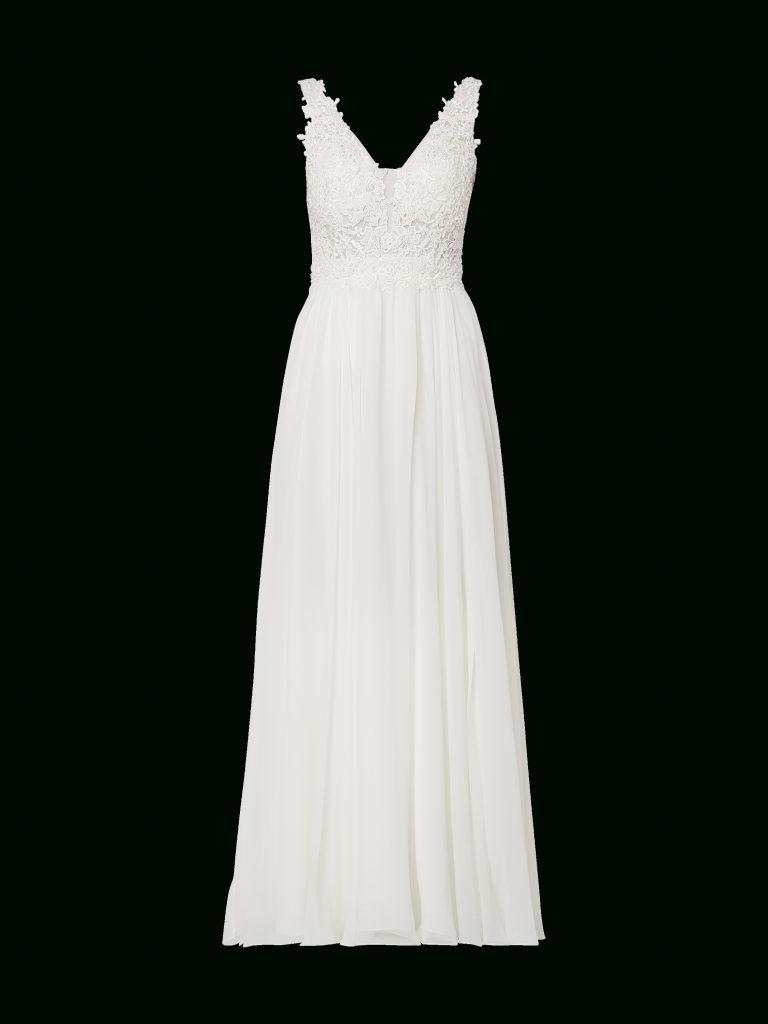 Niente – Brautkleid Mit Zierperlen – Offwhite - Abendkleid