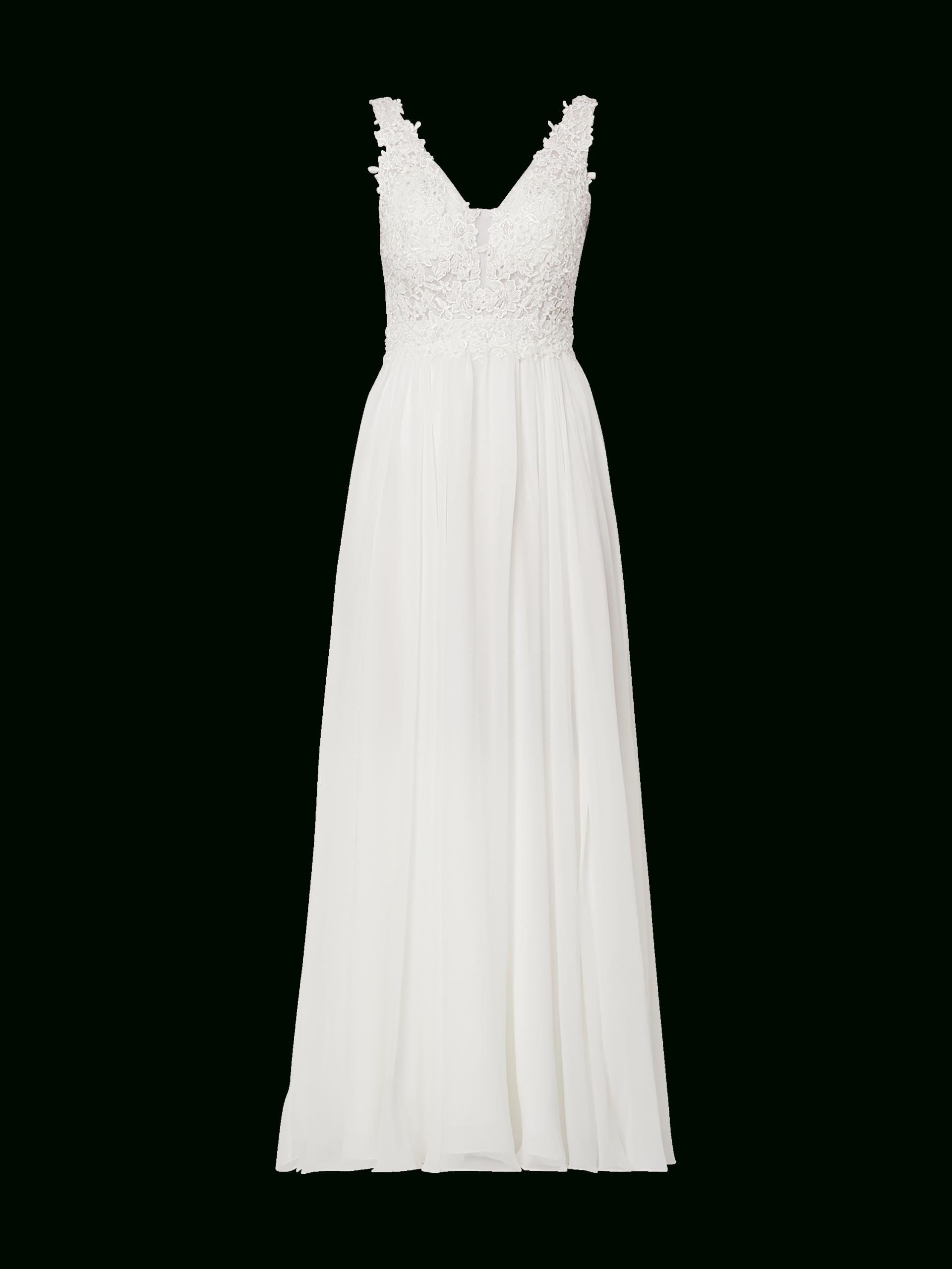 Niente – Brautkleid Mit Zierperlen – Offwhite