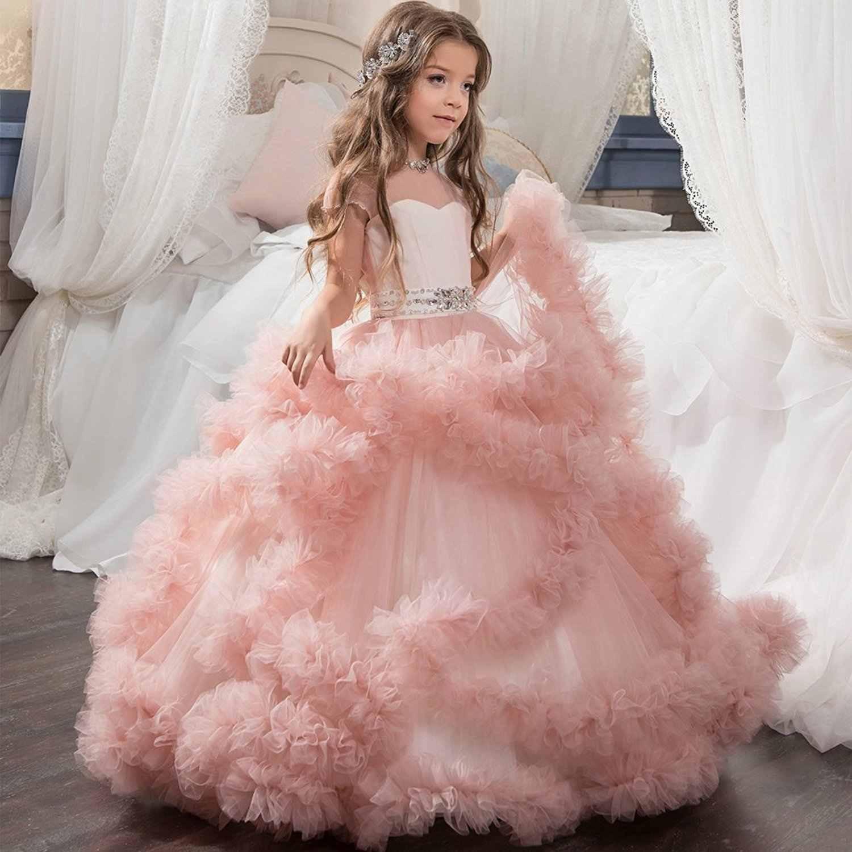 Pc001 Europa Und Amerika Kinder Prinzessin Kleid Blume