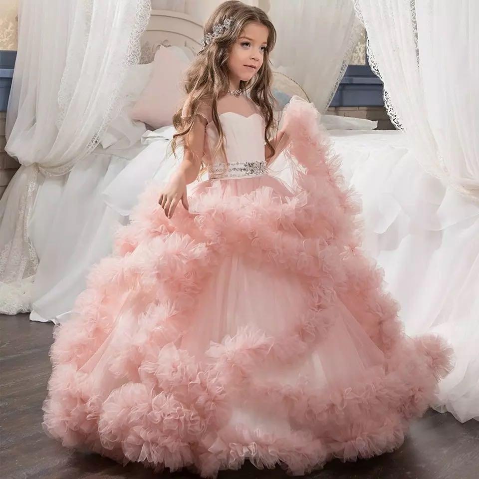 Phantasie Blume Lange Abendkleider Jugendliche Kleider Für Mädchen Kinder  Party Kleidung Kinder Abendkleid Für Brautjungfer Weddingmx190912