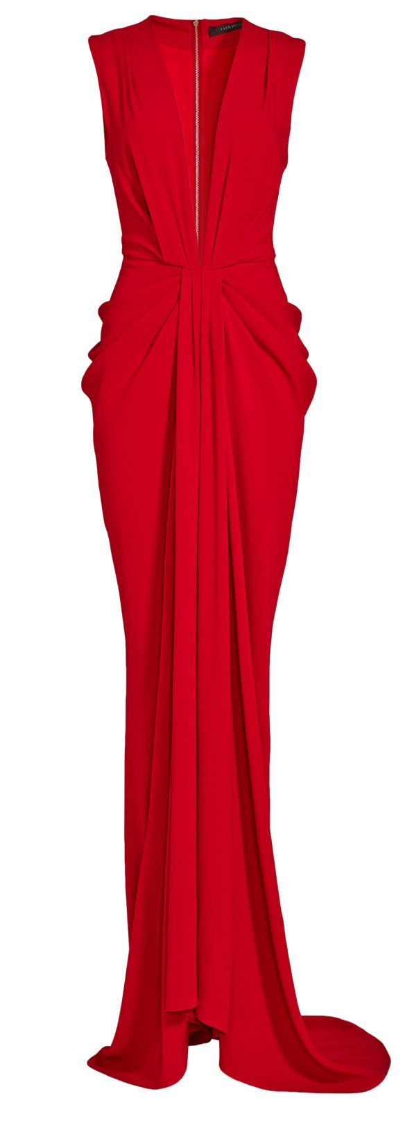 Plunge Red Gown // Thakoon | Red Gowns, Evening Dresses, Gowns