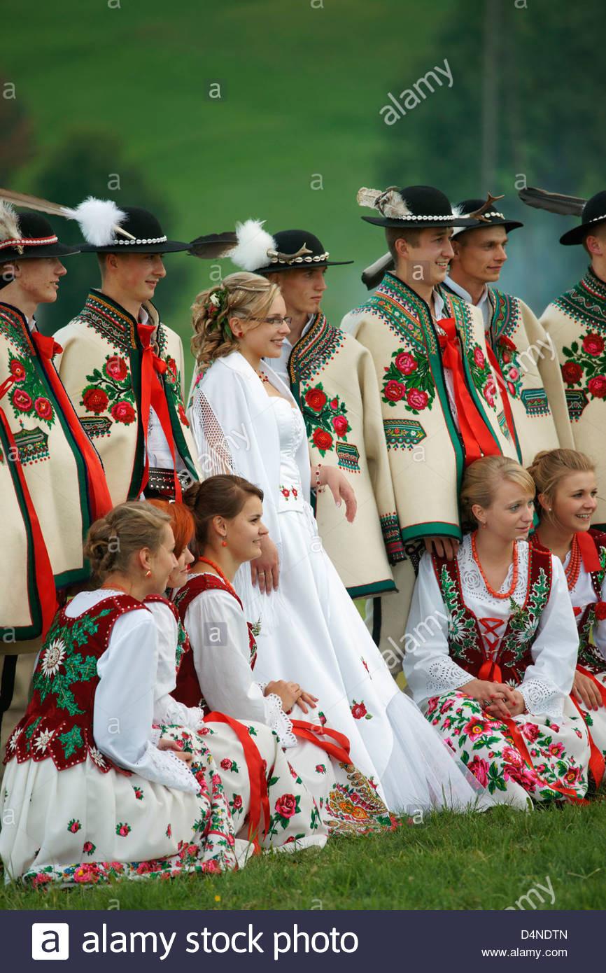 Polnisches Traditionelles Kostüm Stockfotos & Polnisches