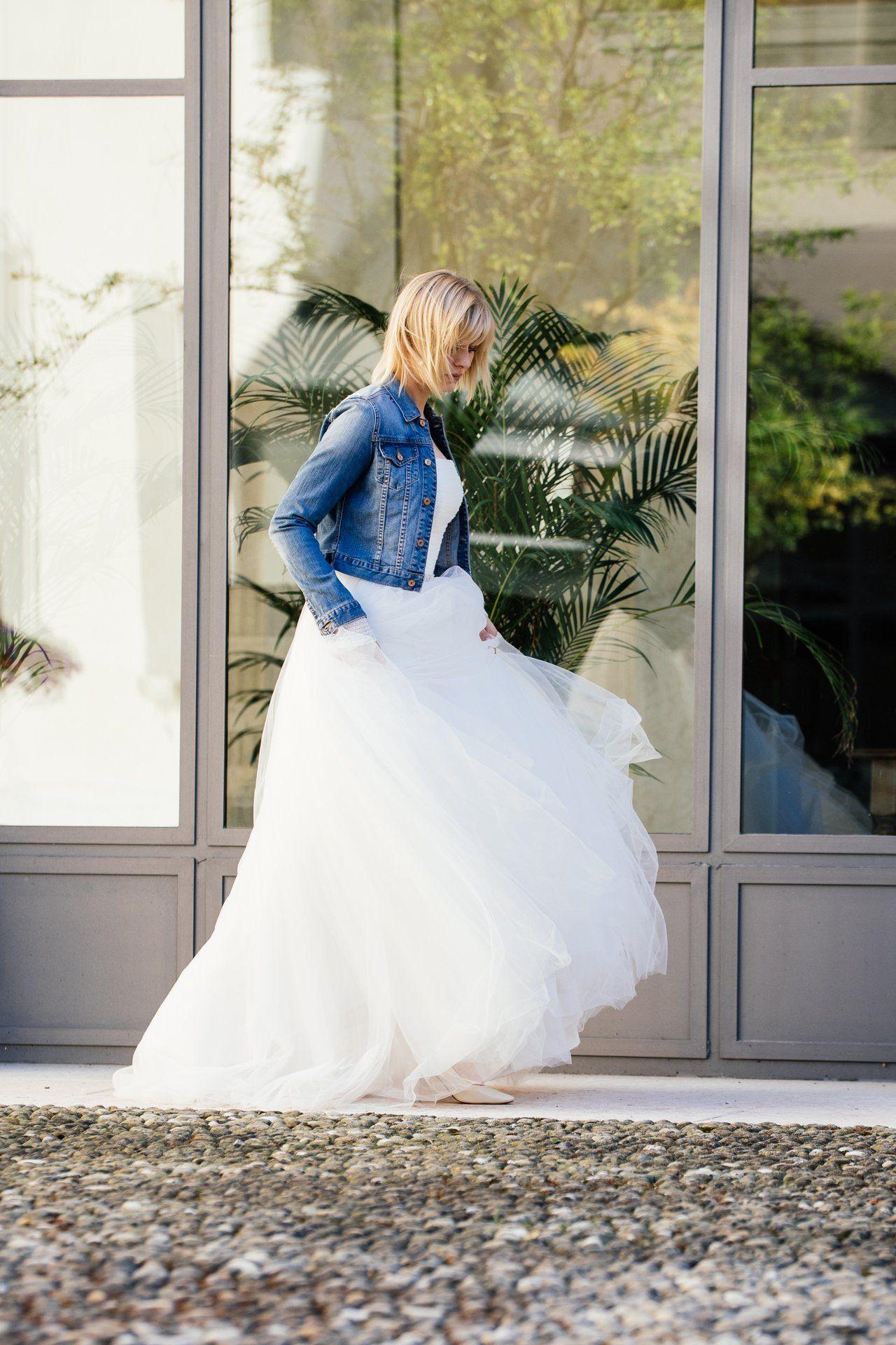 Prinzessinnen Brautkleid | Hochzeitskleid Jeansjacke