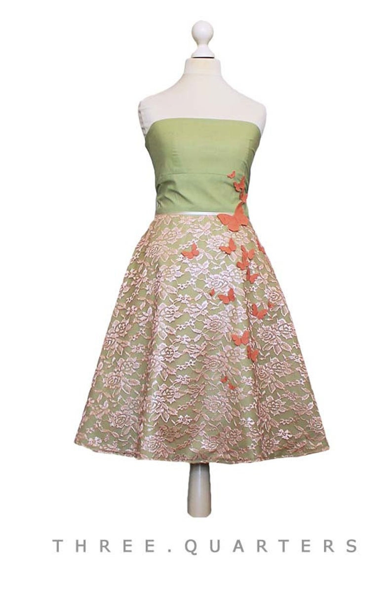 Queens - Dress, Wedding Dress, Lime, Apricot, Green, Summer Dress, Evening  Dress, Wedding, Lace, Bridesmaid Dress, Prom, Light Green