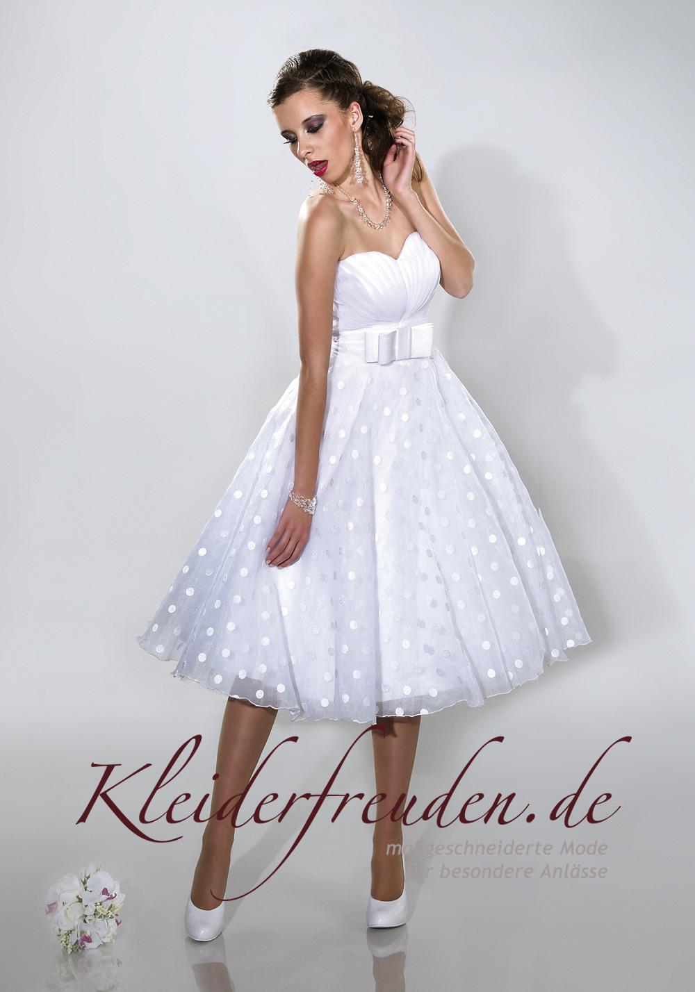 Rockabilly Brautkleid Mit Punkten Und Petticoat - Kleiderfreuden