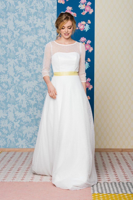 Rockabilly Hochzeitskleid Mit 3/4 Arm – Schwingendes