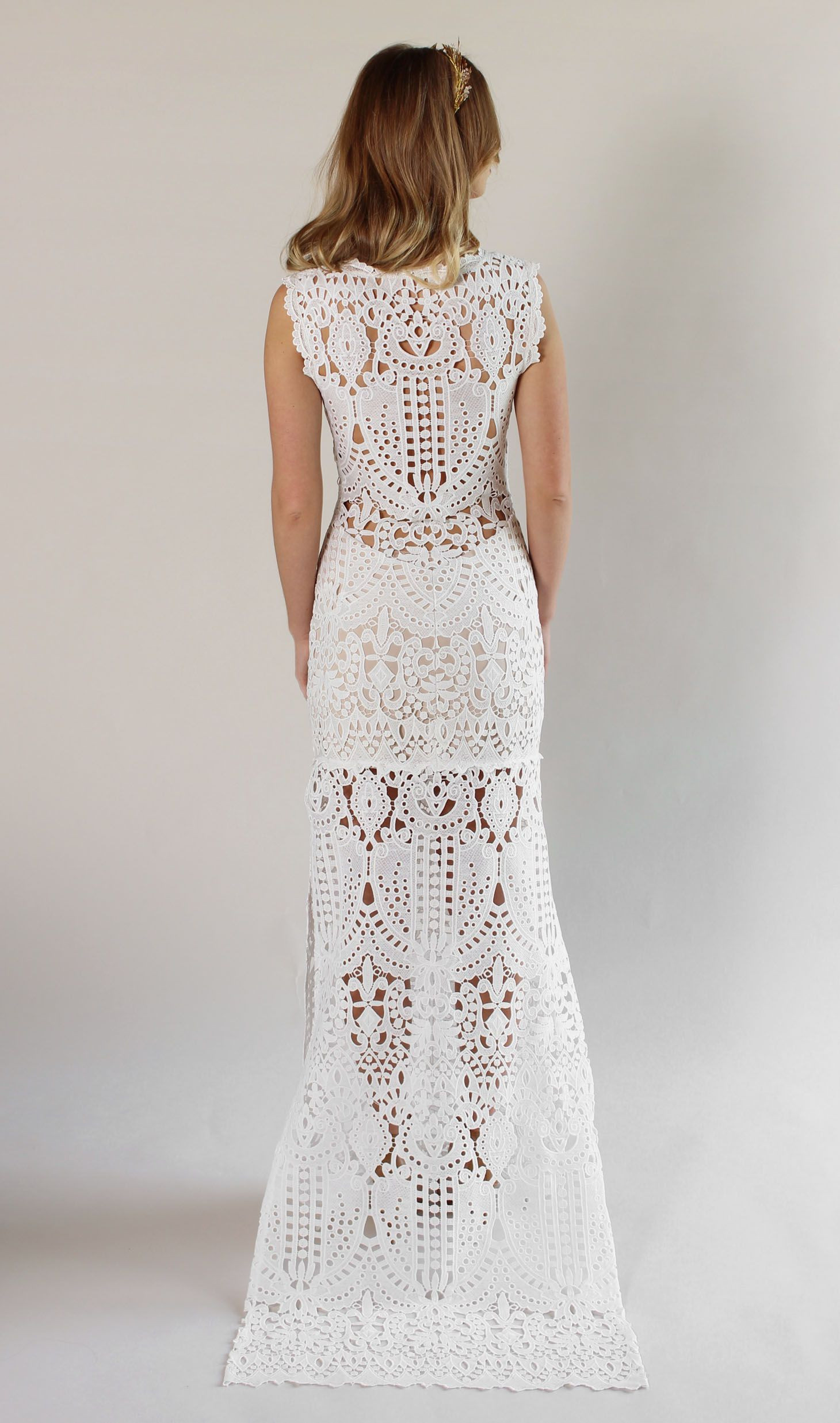 Romantiqueclaire Pettibone Laguna Lace Wedding Dress