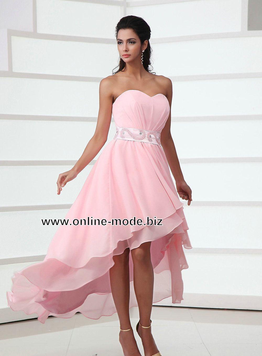 Rosa Vokuhila Abendkleid Von Www.online-Mode.biz | Vokuhila