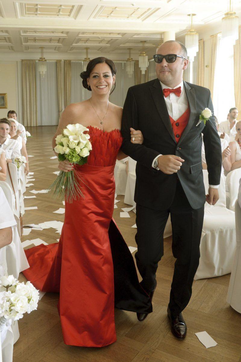 Rote Brautkleider: Tolle Idee Für Eine Untraditionelle