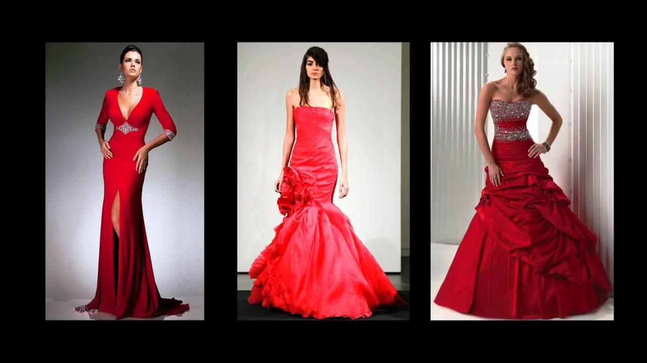 Rote Brautkleider