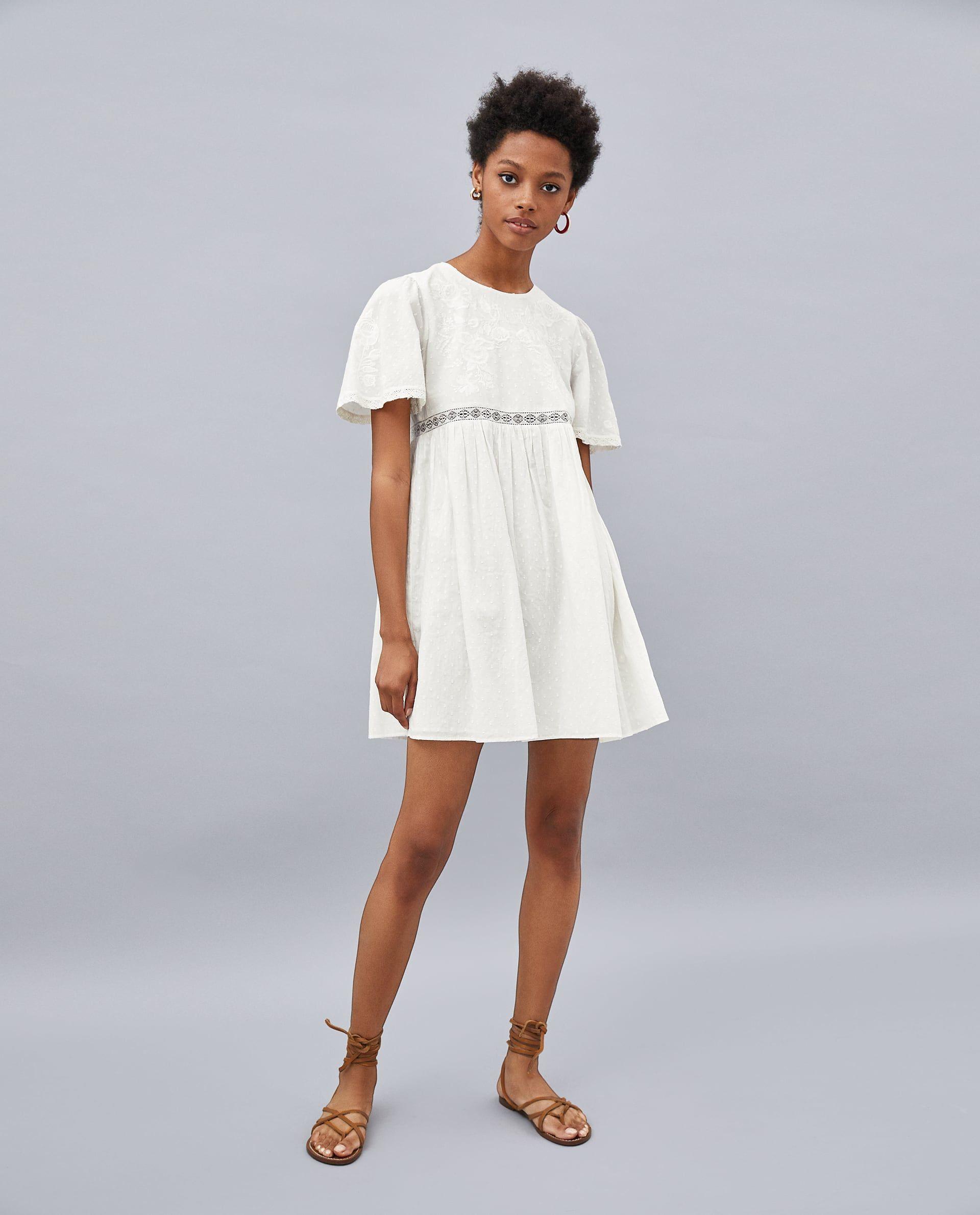 zara kleid weiß