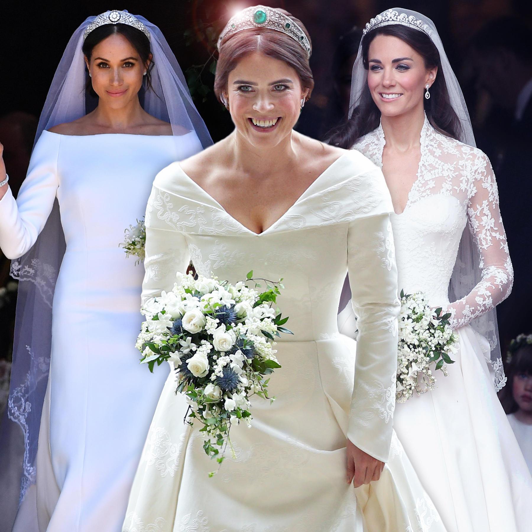 Royale Brautkleider: Kate, Meghan, Zara, Eugenie - Welcher