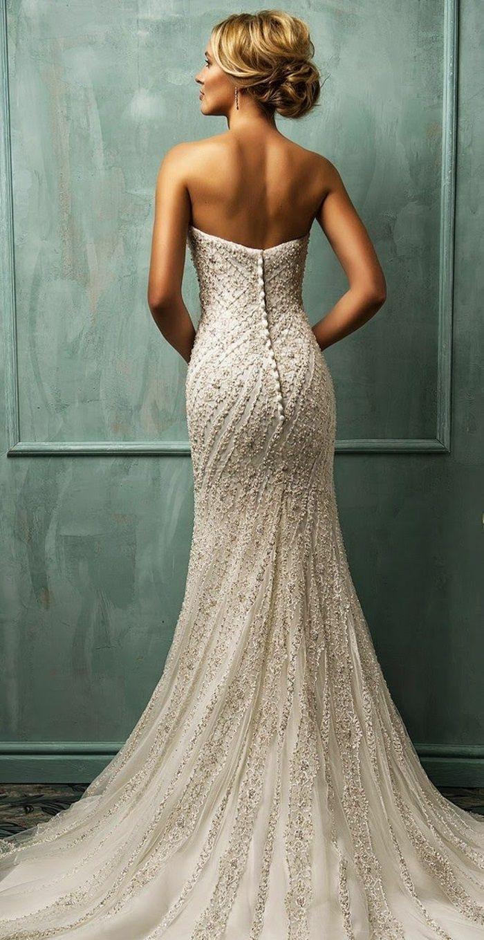 Hochzeit Frisur Rückenfreies Kleid - Abendkleid