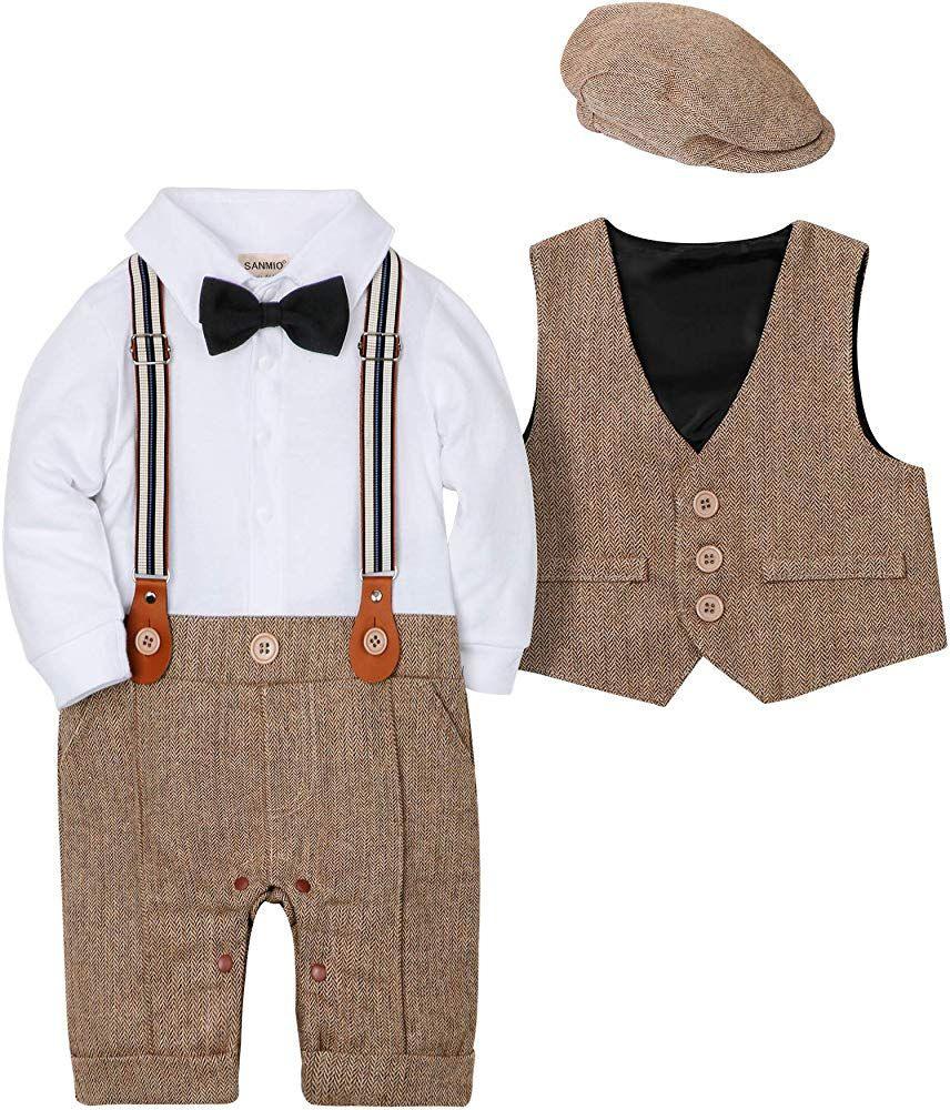 Sanmio Baby Jungen Bekleidungssets, 3Tlg Strampler With