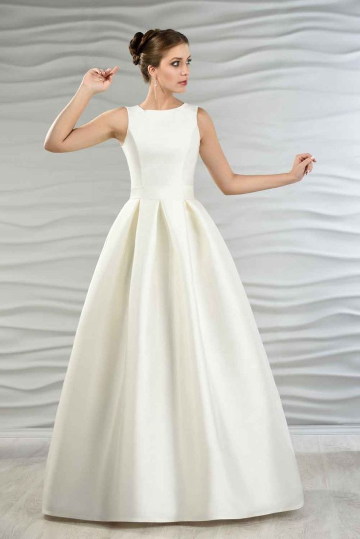 Satin Brautkleid Mit Kellerfalten | Hochzeitskleid