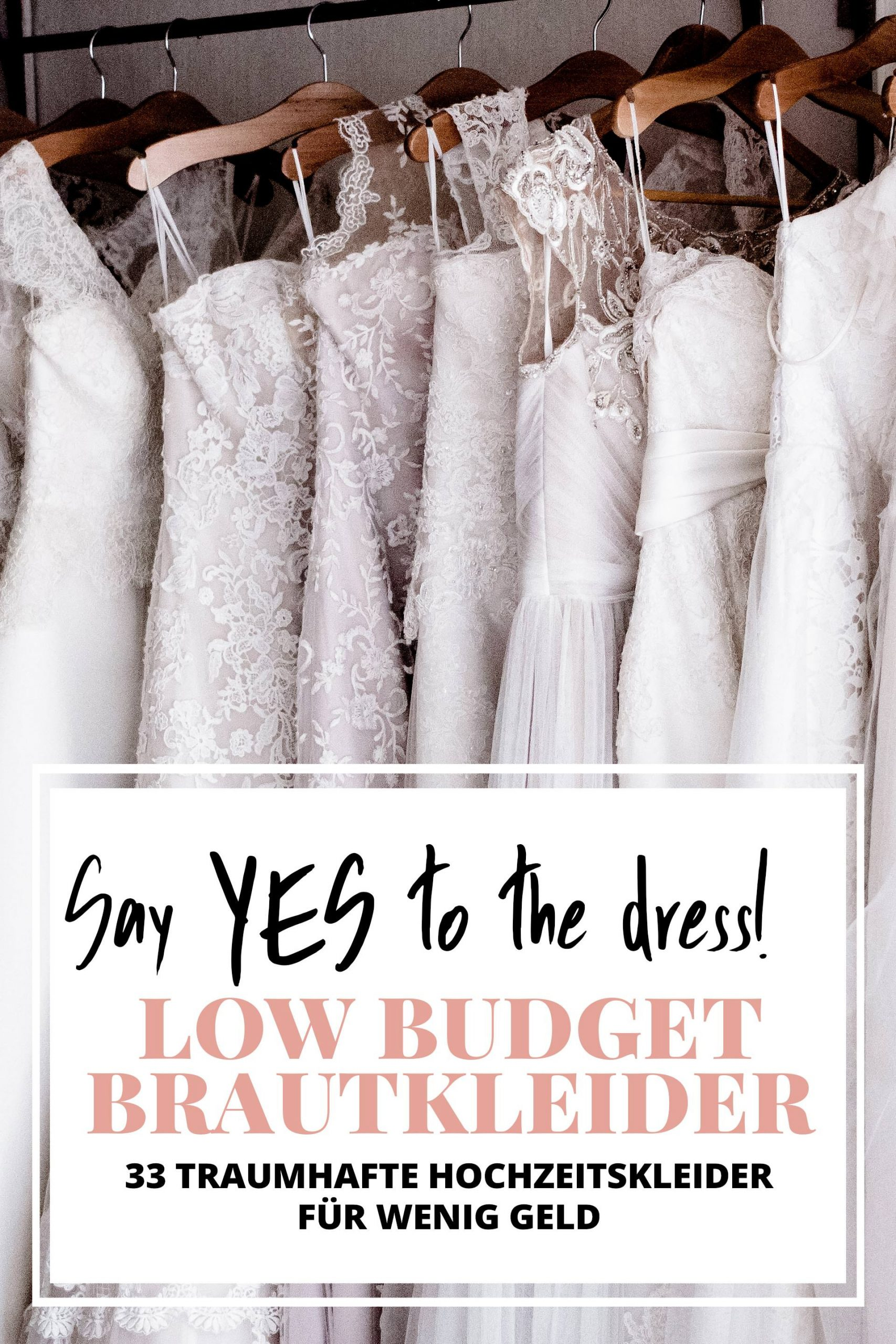 Say Yes To The Dress: Schöne Low Budget-Brautkleider Unter