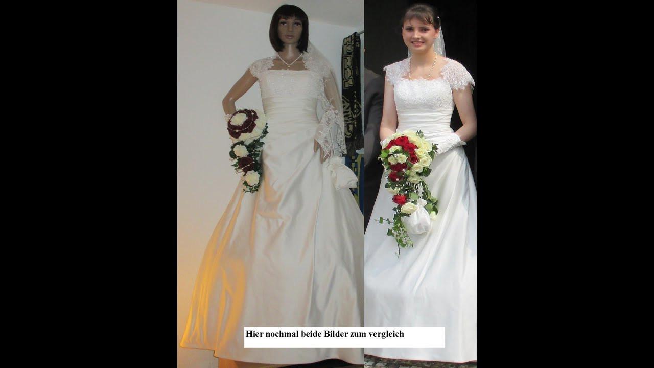 Schaufensterpuppe Anziehen (Braut-Hochzeitskleid)