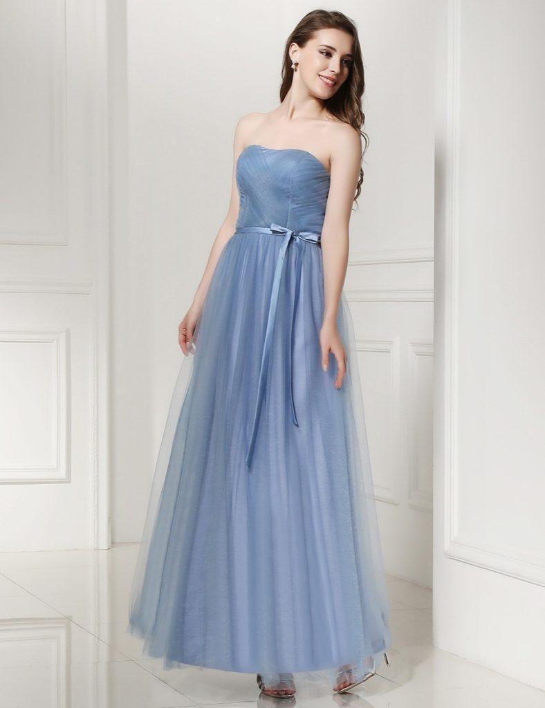 Schön Kleid Blau Hochzeit Vertrieb - Abendkleid