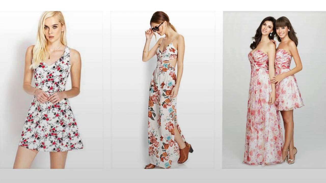 Schöne Blumenkleid, Elegante Abendkleider