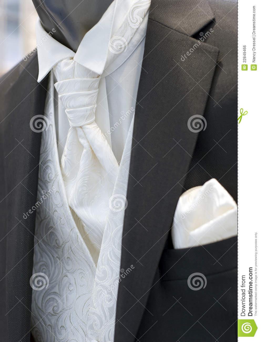 Schöne Moderne Hochzeitskleidung Für Mann Stockfoto - Bild