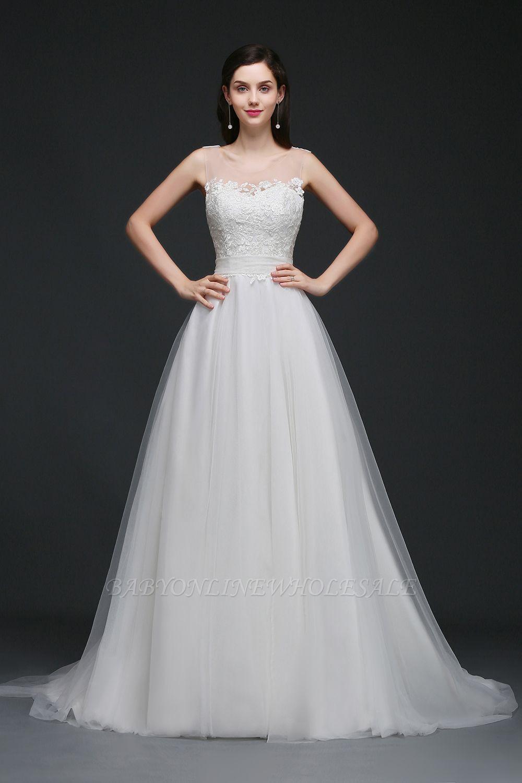 Schönes Tüll Brautkleid Günstig Bestellen | Schlichte