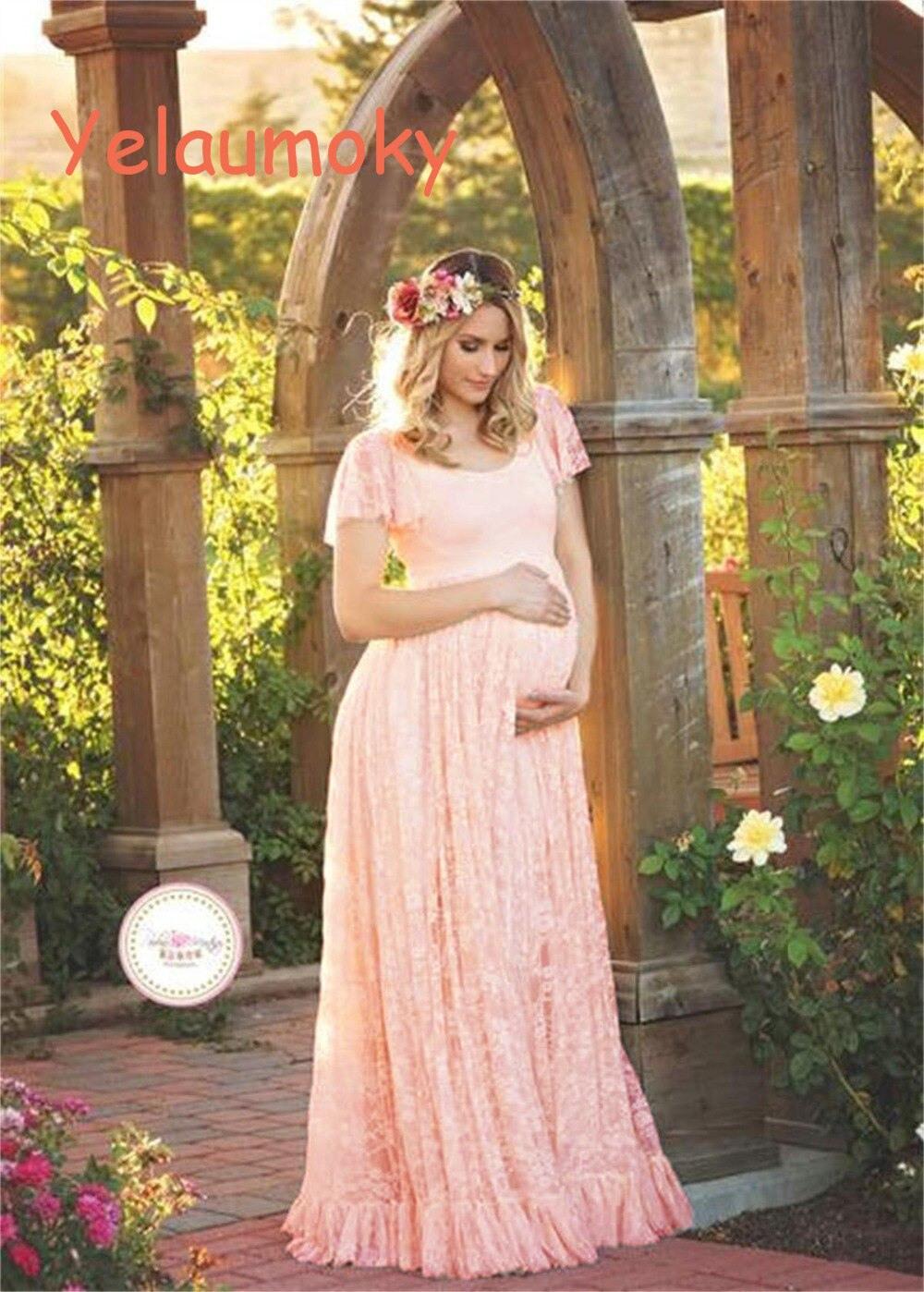 Schwangerschaft Spitze Sommerkleid Mutterschaft Fotografie