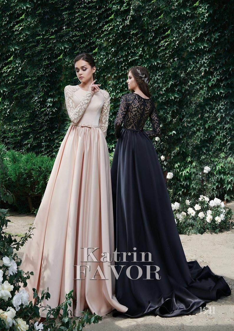 Schwarze Hochzeitskleid Alternative Hochzeit Kleid Erröten