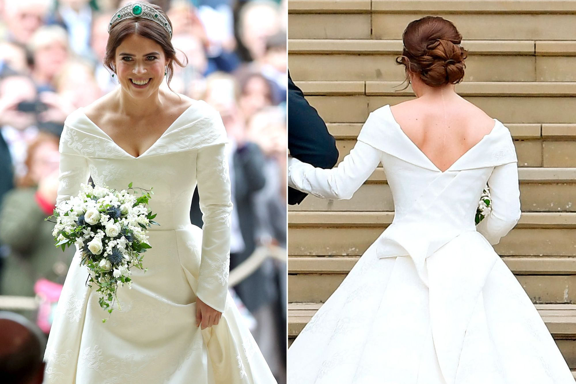 See Princess Eugenie's Open-Back Wedding Dress, Designed To