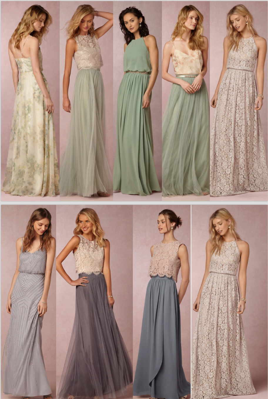 Shelbs' Creativity Shining Through. Bridesmaid Dress Ideas