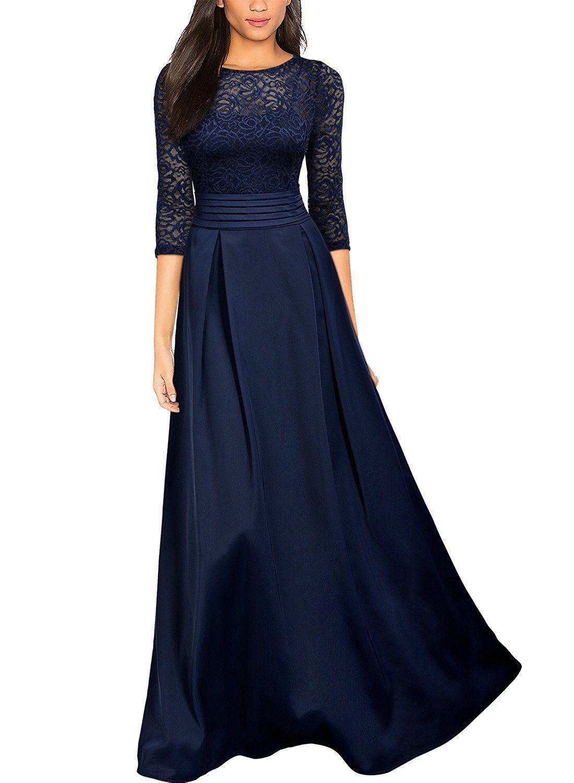 Shoppen Sie Miusol Damen Vintage Spitzenkleider Hochzeit