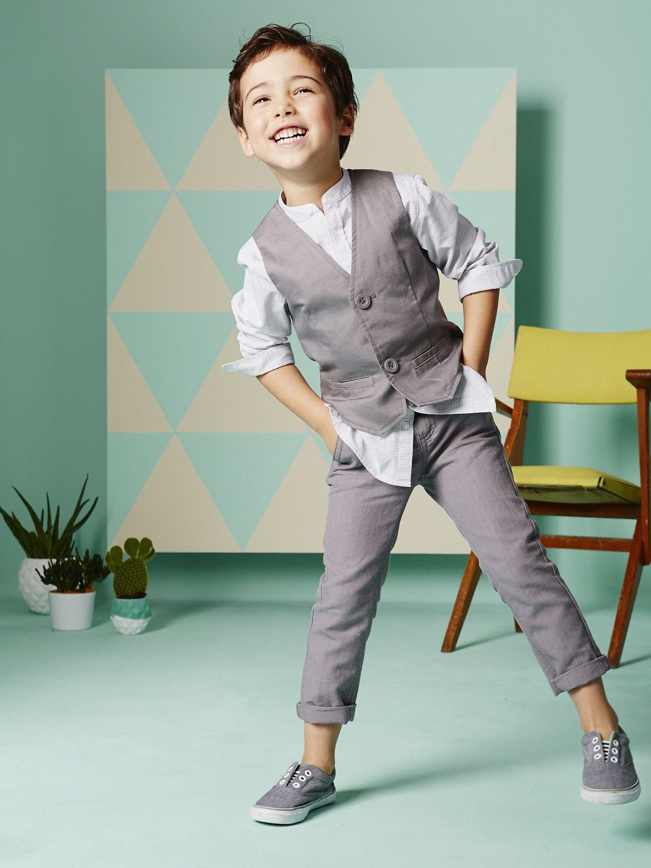 Silhouette Schicke Weste Für Jungen + Jungenhemd Mit