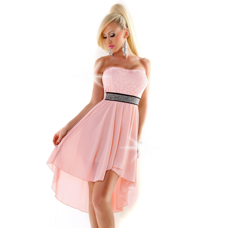 Sinnemaxx Online Shop Für Young Fashion Style & Günstige Cocktailkleider  Online Bestellen | Trägerloses Kleid Vorne Kurz Hinten Lang Lachs Rosa Weiß