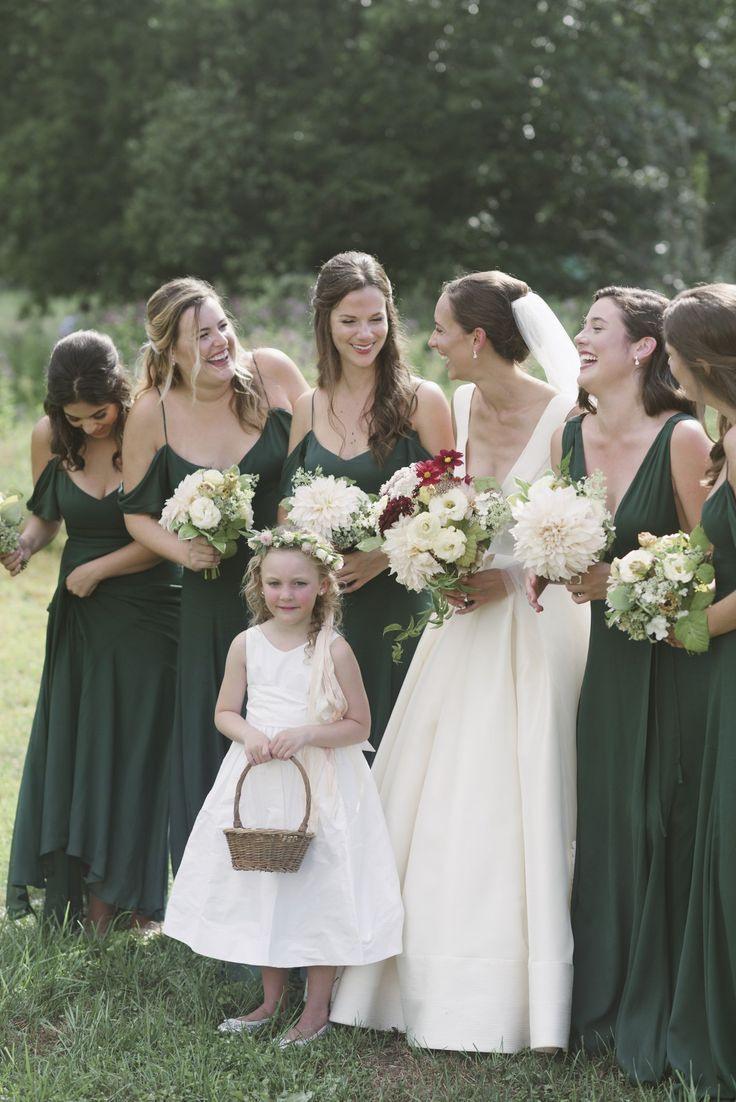 Smaragdgrüne Brautjungfernkleider, Formale Brautparty