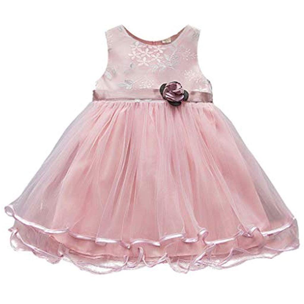 Somesun Kinder Kleid Mädchen Temperament Rose Verschönert