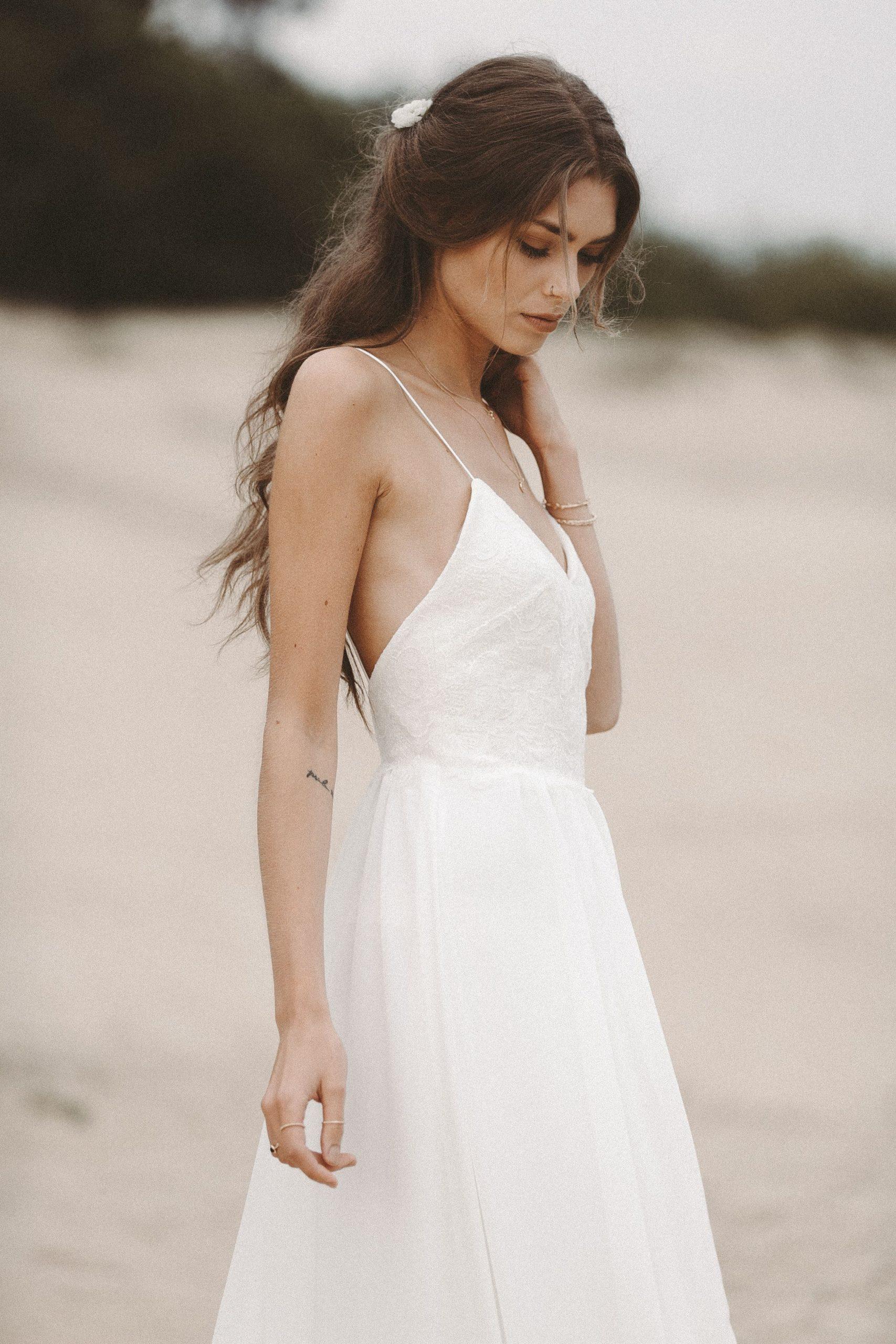 Strandhochzeit Brautkleid Fliessendes Hochzeitskleid Aus