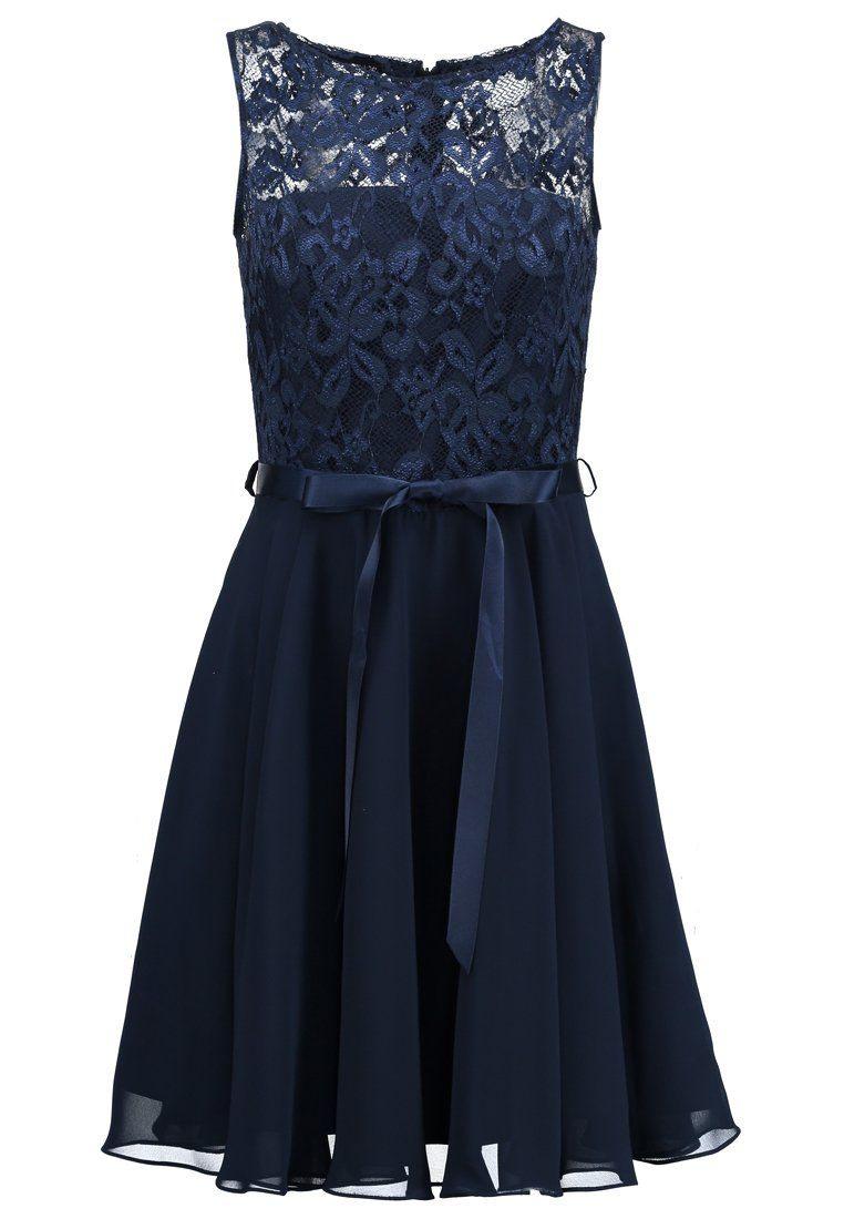 Swing Cocktailkleid / Festliches Kleid - Schwarz Blau - Abendkleid