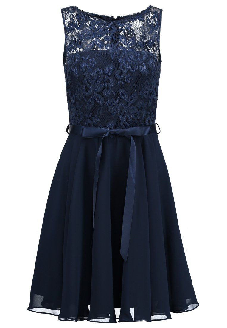 Swing Cocktailkleid / Festliches Kleid - Schwarz Blau
