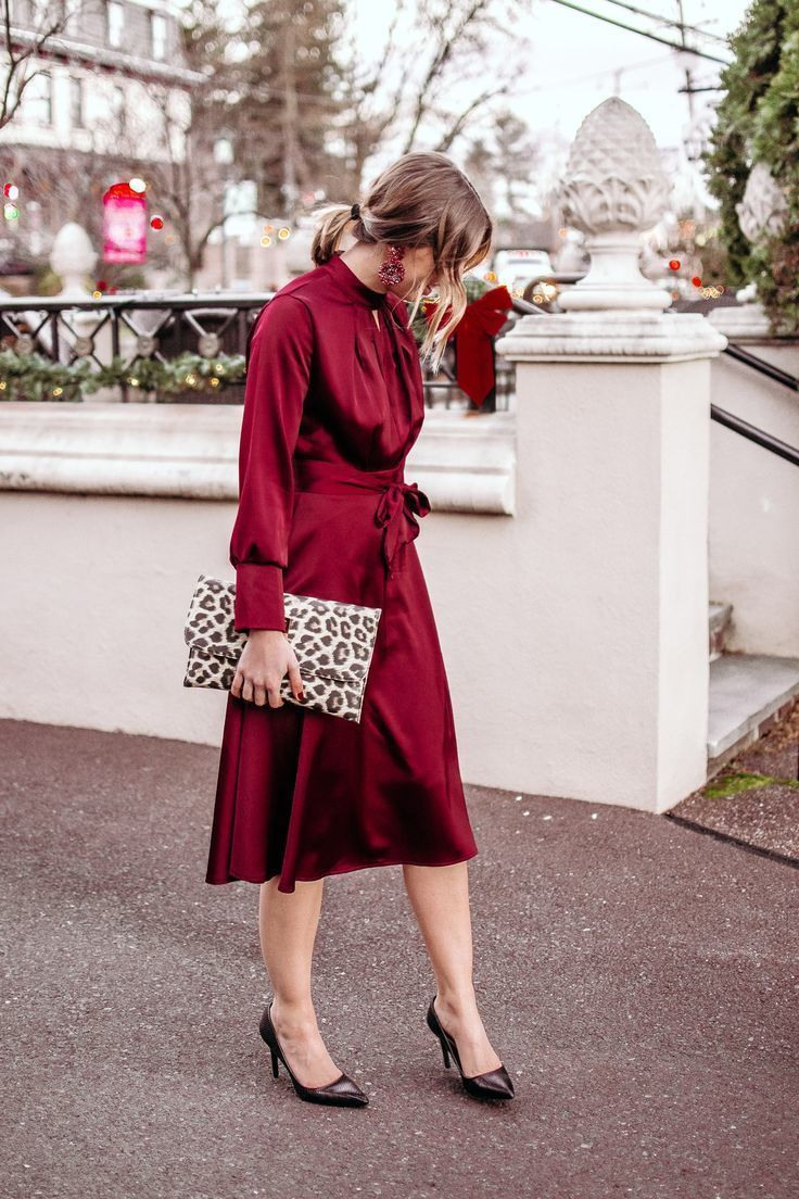 the perfect red dress for the holidays and december weddings