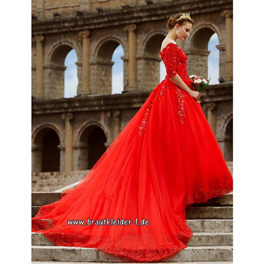 The10D10 Brautkleid Rot Und Hochzeitskleid Rot Bei - Abendkleid