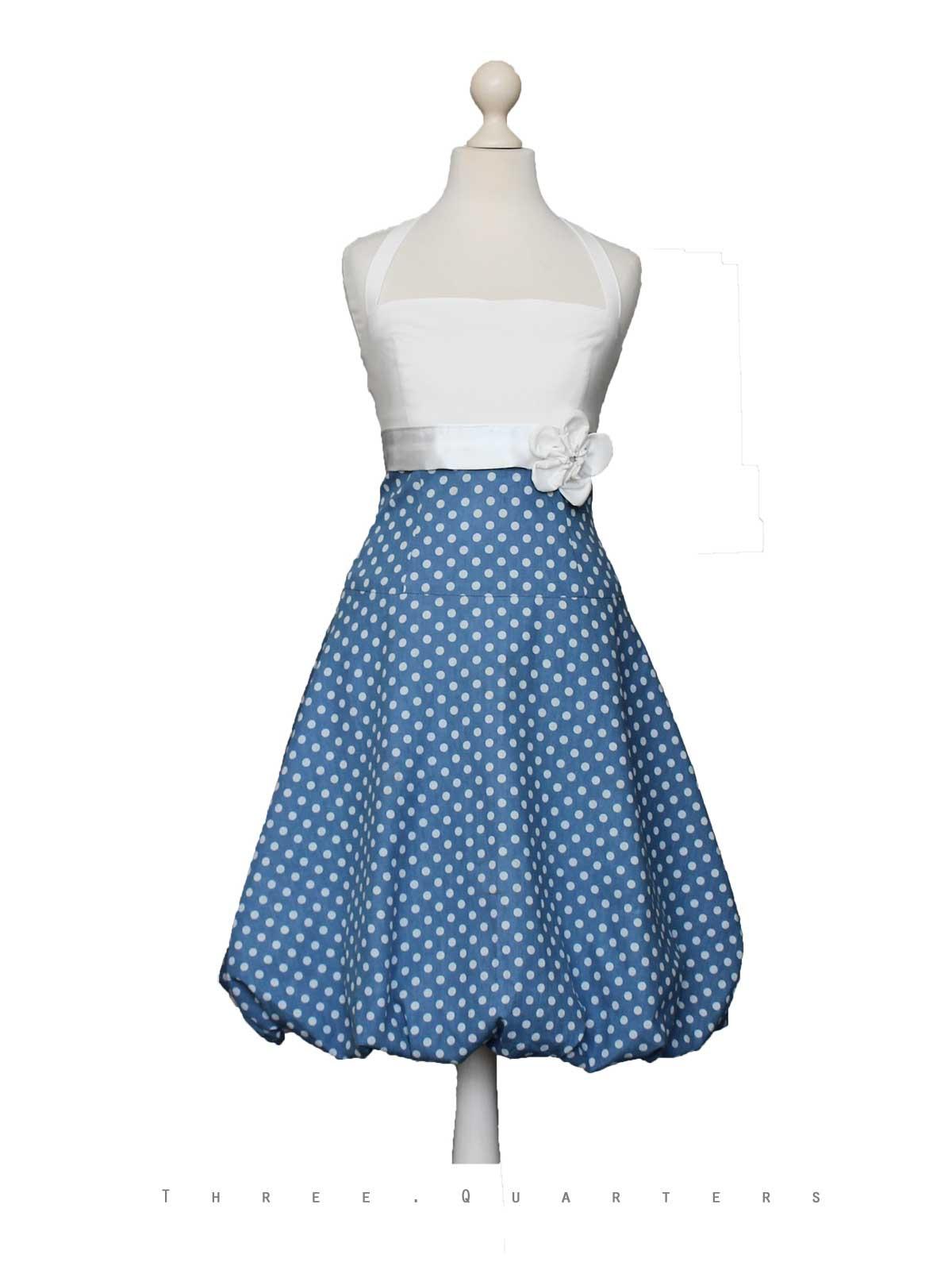 Three-Quarters - Ballonkleid, Kleid, Abendkleid, Blau
