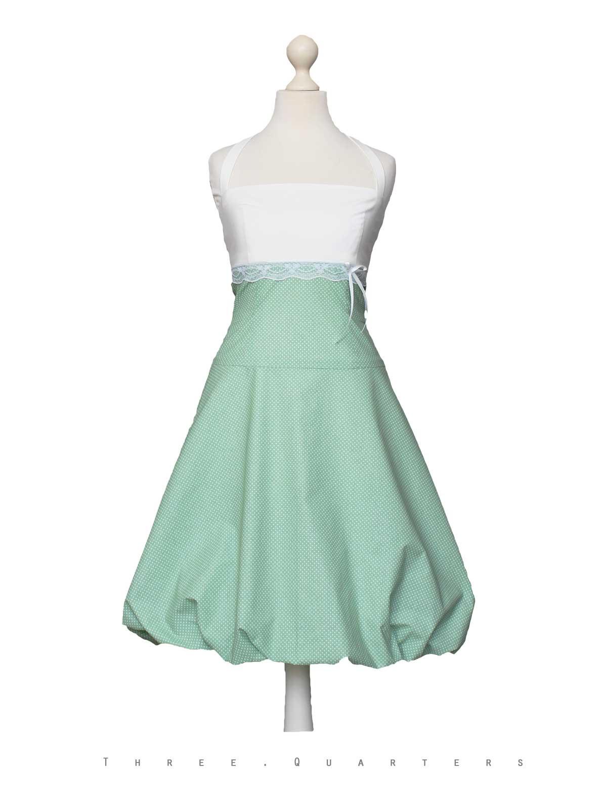 Three-Quarters - Ballonkleid, Kleid, Abendkleid, Grün