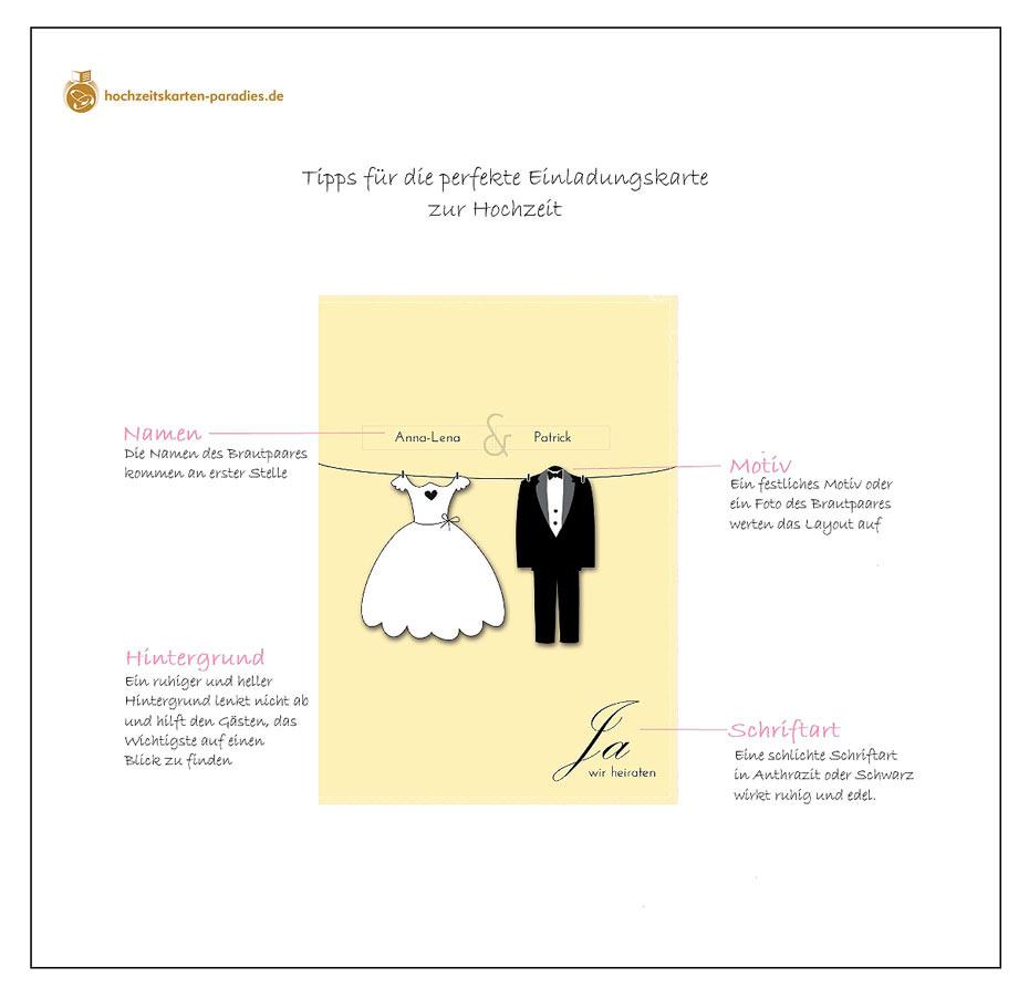 Tipps Zur Gestaltung Der Einladungskarte Zur Hochzeit – So